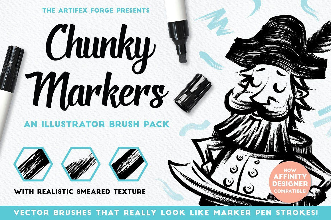 15 of the Best Pen & Pencil Brushes for Adobe Illustrator - chunkymarkers bold leap creative