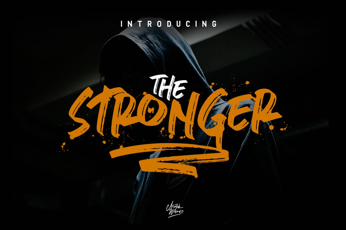 10 of the Best Urban Fonts - 01.stronger