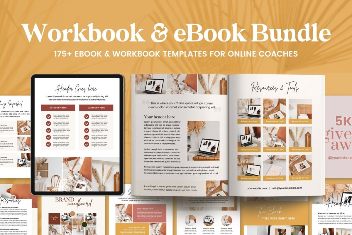 Earning Passive Income With Digital Products for Beginners - ebook designs workbooks lead magnet creator coaches template bundle canva creative market